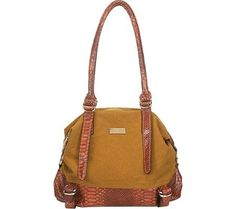 Aryana Adi-16-Cam Chic Camel Snake Print Leather Dual Shoulder Strap Womens Handbag #WomenGymBags