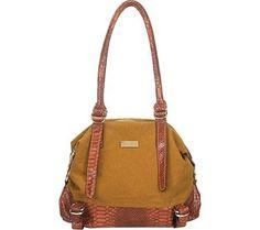 Aryana Adi-16-Cam Chic Camel Snake Print Leather Dual Shoulder Strap Womens Handbag #WomenGymBags