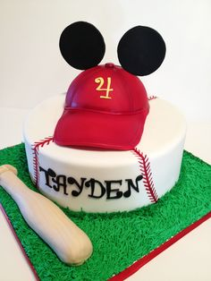 Mickey Mouse Baseball Cake