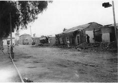 Imágenes del terremoto, al parecer del año 1918. A la derecha se ubica actualmente la Intendencia de la III Región de Atacama.