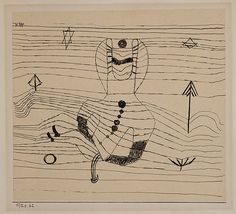 Rider Unhorsed and Bewitched Paul Klee  (German (born Switzerland), Münchenbuchsee 1879–1940 Muralto-Locarno) Date: 1920 Medium: Ink on paper mounted on cardboard Dimensions: 7 5/8 x 8 3/8 in.