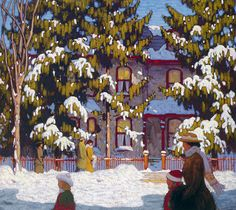 Harris, Lawren - Rue de Toronto, un dimanche matin en hiver- Art Gallery of Ontario, Toronto Group Of Seven Art, Group Of Seven Paintings, Picasso, Tom Thomson Paintings, Most Famous Artists, National Art, Canadian Artists, Canadian Painters, Ludwig