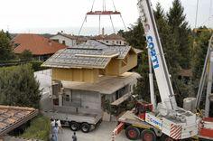 Case in legno - Sopralzo in X-Lam con costruzione a terra - Sala Guido Legnami