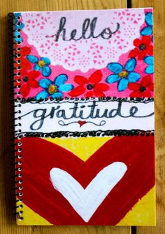 Artsy and Colorful Gratitude Journals - By Kathleen Tennant