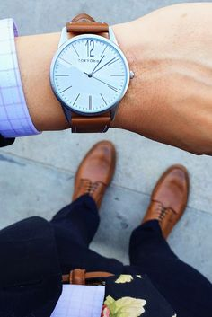 Jones Watch by TOKYObay. A minimal dial combined with a smooth Italian leather strap make for a dapper causal watch style for the everyday.