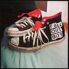 Fall Out Boy Converse- In Progress by Krayola-Kat.deviantart.com on @deviantART