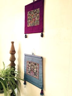 Handmade wall hanging, boho decor, wall hanging, embroidered wall hanging by LondonDesiProject on Etsy https://www.etsy.com/uk/listing/463422170/handmade-wall-hanging-boho-decor-wall