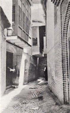 زقاق في بغداد 1916 للرحالة السويدي سفين هيدين