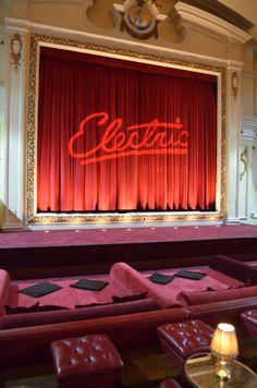 Electric Cinema in Portobello Road; a luxurious way to watch movies. Cosy seats, delicious wine and beautiful lamps.