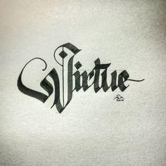 #V is for Virtue. #makedaily #calligraphy #parallelpen #pilotparallelpen #blackletter #fraktur
