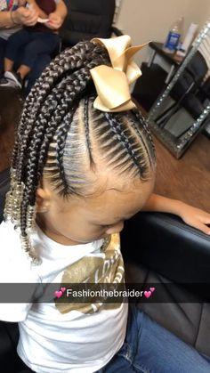 Little Black Girls Braids, Black Kids Braids Hairstyles, Little Girls Natural Hairstyles, Little Girl Braid Styles, Toddler Braided Hairstyles, Lil Girl Hairstyles, Braids For Black Hair, Toddler Braids, Cornrow Styles For Girls