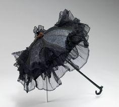 1870, America  Parasol by Stern Brothers  Silk, wood, metal MET Museum