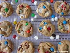Peanut Butter M&M Marshmallow Cookies