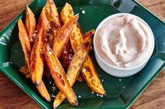 Crispy sweet potato fries! Hint: The secret is a pantry staple you probably have hiding in there.