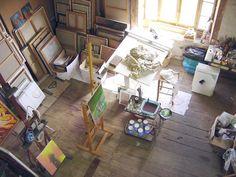 22 Home Art Studio Ideas, Interior Design Reflecting Personality and Artworks - 'Apr 2019 - Arte Art Studio Design, Art Studio At Home, Home Art, Design Art, Design Ideas, Attic Renovation, Attic Remodel, Studios D'art, Pattern Wall