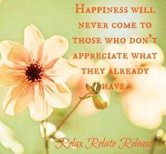 Happiness quote via www.Facebook.com/RelaxRelateRelease