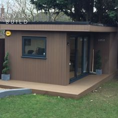 Garden offices are a great way to create a seperation between home and work life. 📷: N.Rees Builders Merchants, Sustainable Building Materials, Floors And More, Backyard Sheds, She Sheds, Composite Decking, Garden Office, Cladding, Offices