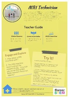 Are you looking for easy ways to make your NGSS lessons more relevant and engaging? Created by certified STEM educators, this Teacher Sheet provides exploratory questions, inquiry-based activities, and NGSS curriculum connections related to a specific STEM career.