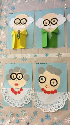 crafts for fathers day, mothers day contest ideas, happy mothers day Grandparents day! crafts for fathers day, mothers day contest ideas, happy mothers day Grandparents Day Crafts, Fathers Day Crafts, Diy And Crafts, Crafts For Kids, Paper Crafts, Diy Paper, Family Theme, Art N Craft, Toddler Crafts