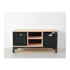 """NORNÄS Bench with storage compartments $199.00 Product dimensions Width: 42 1/2 """" Depth: 15 3/4 """" Height: 20 1/2 """"NORNÄS Bench with storage compartments - IKEA"""
