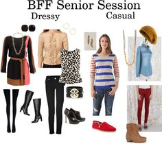 Best Friend sessions can have a dressy or more casual feel.