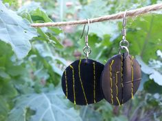 Upcycled Indie Earrings - Spent Bike Tube - Hipster Jewelry - Women Bike Accessories - Gift Under 20 on Etsy, $16.00