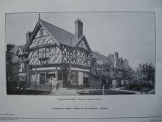 Shop and Post Office. Workmen's Model Village, Port Deposit, England, UK, 1904, Grayson & Ould