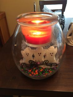 Clearly creative jar holder. DIY Halloween