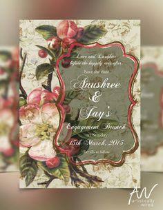 "Artistically Wired ""Portfolio"" Navy and Blush Laser Cut Wedding Invitation - Glittering Navy Laser Cut Gatefold invite with Blush red. WeddingNet #weddingnet #wedding #weddinginvitation #intite #invitations #red #peach #glitter #lasercut #lace"