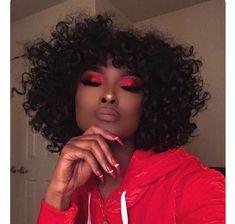 ideas birthday makeup looks red Makeup Tips, Beauty Makeup, Hair Makeup, Hair Beauty, Eye Makeup, Black Girl Makeup, Girls Makeup, Makeup On Fleek, Flawless Makeup