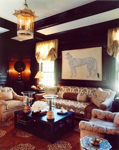 A gorgeously rich room by Markham Roberts.