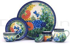 Polish Pottery 8 oz Dessert Set | Boleslawiec Stoneware | Polmedia H5242G
