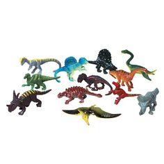 Small Plastic Dinosaurs (Bulk Pack of 12 Dinos) at theBIGzoo.com, an animal-themed store established in August 2000.
