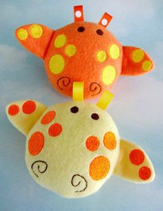 Baby Giraffe Softie Embroidery Design for Machine Embroidery In-The-Hoop Toy. $3.99, via Etsy.