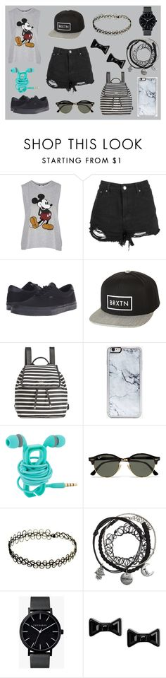 """""""K.W"""" by sofia-goni ❤ liked on Polyvore featuring Topshop, Vans, Brixton, Kate Spade, Zero Gravity, Ray-Ban, The Horse and Marc by Marc Jacobs"""