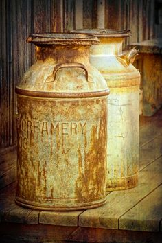 Old Vintage Creamery Cans  A Fine Art by RandyNyhofPhotos on Etsy, $30.00
