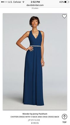 Float from aisle to dance floor in this long chiffon bridesmaid dress 32ba74ddcc13