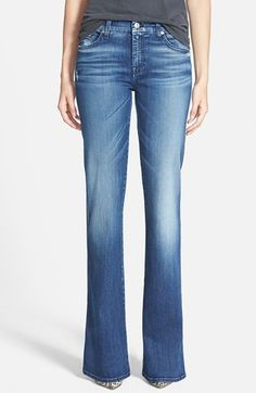7 For All Mankind® A-Pocket Flare Jeans (Lake Blue) available at #Nordstrom