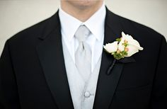 White boutonniere // photo by http://www.kristenweaver.com, see more: http://theeverylastdetail.com/2013/09/27/classic-pink-white-florida-wedding/