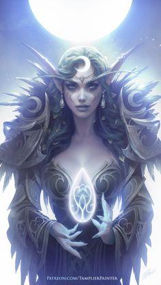 Fantasy Kunst, Dark Fantasy Art, Fantasy Artwork, Daily Fantasy, Fantasy Character Design, Character Inspiration, Character Art, World Of Warcraft Characters, Fantasy Characters