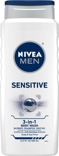 Nivea For Men Sensitive Body Wash Body, Hair & Face, Bottle (Pack of Sensitive Men, Aftershave, Face Hair, Shower Gel, Bath Shower, Body Wash, Bath And Body, Shampoo, Pure Products