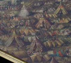 Obraz XVII w. Namioty w obozie w czasie oblężenia Torunia 1629r lub Prabut / http://regiment.pl/forum/viewtopic.php?t=459