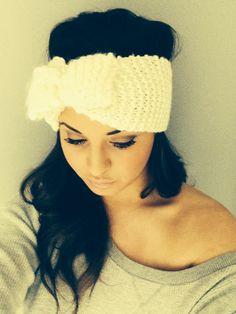 Knit headband for winter