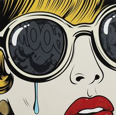 Pop art tears sunglasses