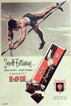 ION vintage ad, George Roubanis Olympic bronze metalist in