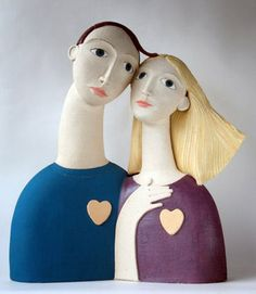 Ceramics by Sue Crossfield at Studiopottery.co.uk - Lovers.