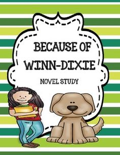 Enjoy this resource freebie which is part of the story by Kate Dicamillo - 'Because of Winn-Dixie'. You can get the other parts of this resource in my store by following these links -Because of Winn-Dixie Comprehension and Vocabulary PacketBecause of Winn-Dixie Activity PacketBecause of Winn-Dixie  Complete Novel Study Packet