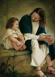 And he laid hands on the children and blessed them....