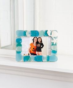 Another great find on #zulily! Blue Sea Glass Frame #zulilyfinds