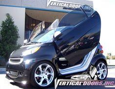 Buy Vertical Doors - Vertical Lambo Door Kit For Smart Fortwo 451 at online store Smart Auto, Smart Fortwo, Smart Car Body Kits, Smart Car Accessories, Vertical Doors, Cheap Cars For Sale, Car For Teens, Car Mods, Ferrari Car